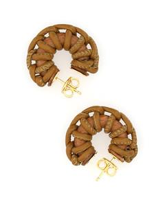 Intertwined Leather Earrings