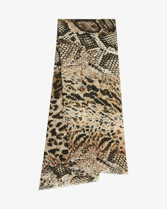 Ring-embellished leather belt
