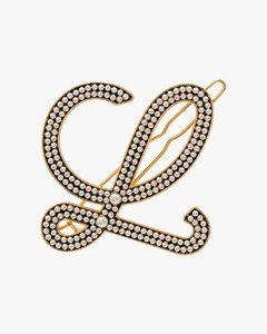 Gold tone pearl embellished hair pin