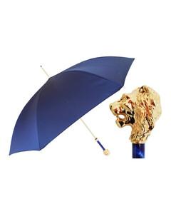 葩莎帝 金色狮子头蓝色布面雨伞