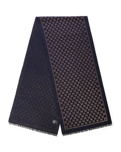 Ladies Metallic GG Wool Scarf