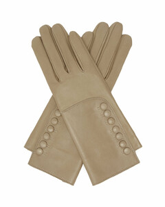 Rachelle buttoned leather gloves