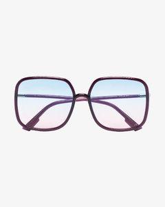 Eyewear Purple square ombrésunglasses