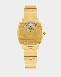 Grip two-window gold PVD watch