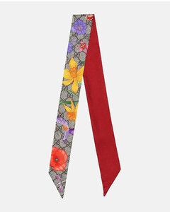 GG Flora silk neck tie