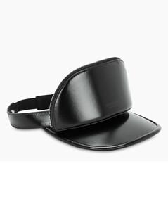 Black cap with visor