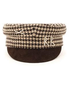 HOUNDSTOOTH BAKER BOY CAP