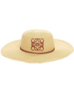 Paula's Ibiza Iraca Palm & Leather Hat