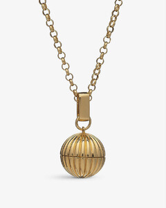 Momento 22ct yellow gold-plated sterling silver locket necklace