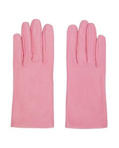 粉色皮革手套