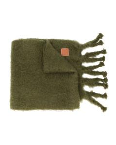 Khaki Green Mohair Scarf