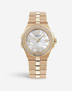 Alpine Eagle 18ct rose-gold and diamond small watch