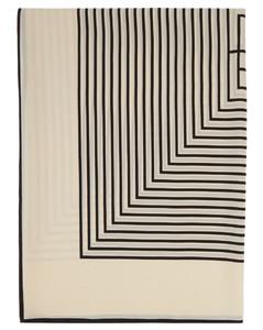 灰白色Monogram Sarong真丝围巾