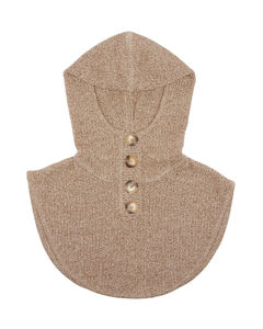 Hooded cotton-blend snood