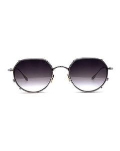 Black oval-frame sunglasses