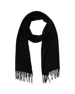 Fringed Cashmere Knit Scarf