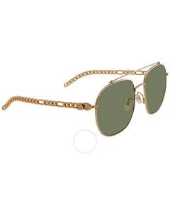 Green Aviator Ladies Sunglasses GG0727S-003 58