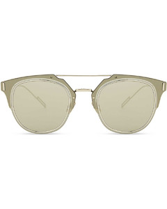 Composit square-frame sunglasses