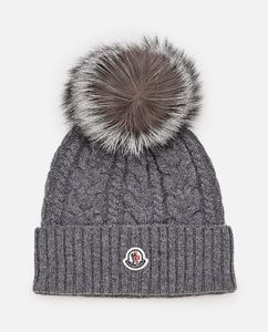 WOOL AND CASHMERE KNIT BEANIE HAT