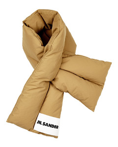 Camel quilted shell scarf