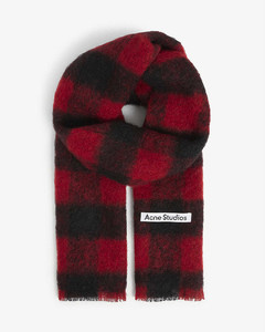 Vabby checked wool scarf