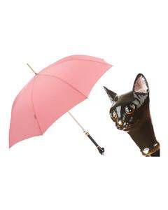 葩莎帝女士猫头手柄手工伞
