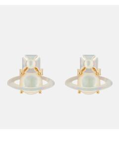 Women's Yalitza Earrings - Gold White