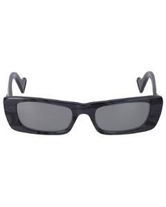 gradient signature-knit head-scarf