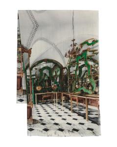 Ribbed-knit wool snood