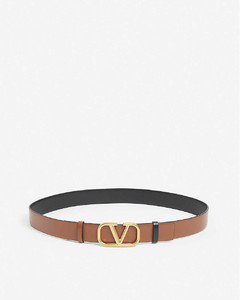 V-Ring leather belt