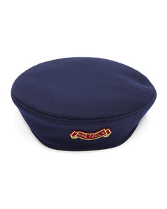RB Girl logo-patch canvas beret