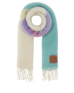 Printed mohair blend scarf