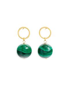 Blue floral-print silk-twill scarf