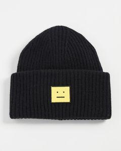 黑色毛线帽