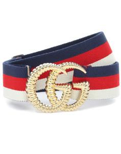 GG striped web belt