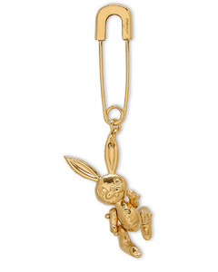 Gold-plated Inflatable Bunny single earring