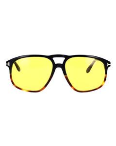 square aviator-frame sunglasses