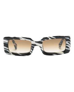 Logo-print polka-dot silk scarf
