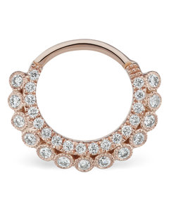 8mm Double-Sided Diamond Apsara Clicker Ring