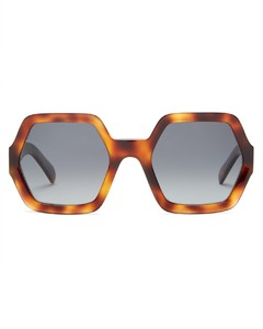 Hexagonal acetate sunglasses