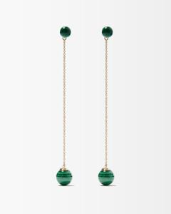 Gold-tone squared sunglasses