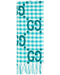 GG jacquard check scarf