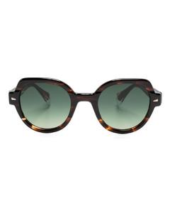 Stripe-jacquard fringed cashmere scarf