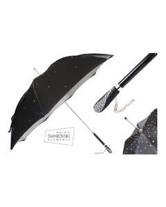 葩莎帝 双层印花施华洛世奇手柄晴雨两用女士意式手工伞