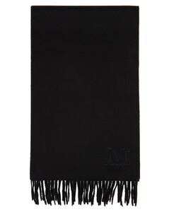 黑色Wsdali羊绒围巾