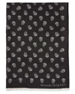 黑色All Over Skull围巾