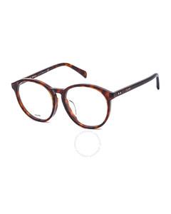 Ladies Tortoise Round Eyeglass Frames CL50028F05455