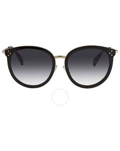 Grey Gradient Round Ladies Sunglasses CL40033F01B56