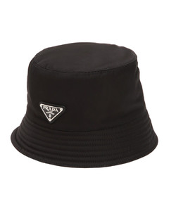 Nylon Bucket Hat W/ Logo Tag
