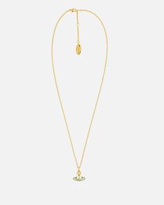 Women's Simonetta Bas Relief Pendant - Gold/Pearl/Blue